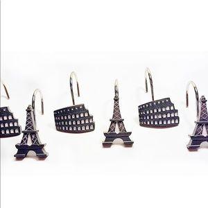 Paris Shower Curtain Hooks Set of 12